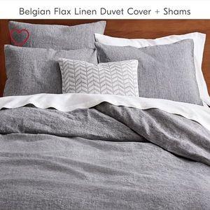 West Elm Belgian Flax Linen Duvet Cover